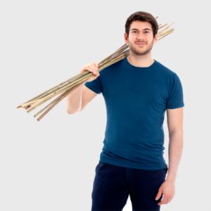Bambus t-shirt herres blå