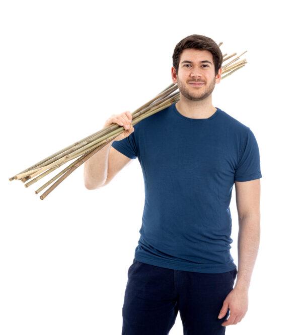 Blå bambus t-shirt