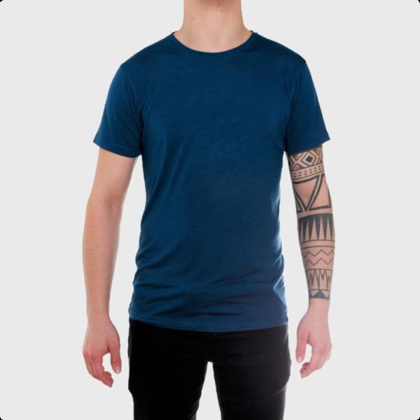 Bambus-t-shirt-klassisk-blå